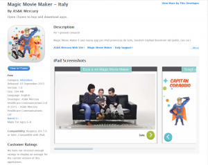 Magic Movie Maker Italy App store