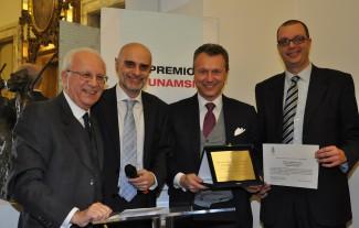 Premiazione Unamsi Massimo Cherubini